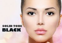 Solid Tone Black Contacts - 1 Day